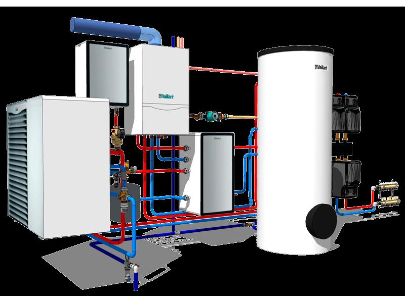 Расчет системы отопления и водоснабжения