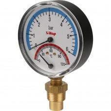 Itap 484 1/2 Термоманометр, боковое подключение ITAP