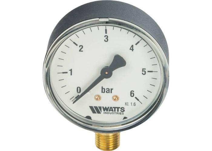 """Watts Манометр F+R200(MDR) 63/6(1/4"""",0-6ар)"""