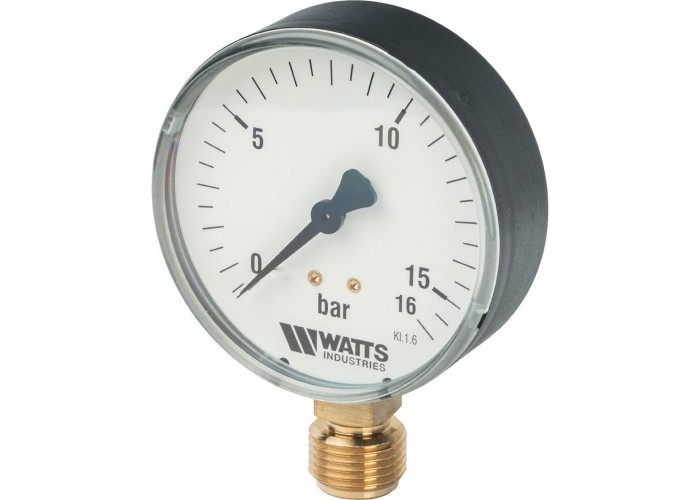 "Watts F+R200(MDR) 80/16x1/2"" Манометр радиальный 80мм, 0-16 бар"