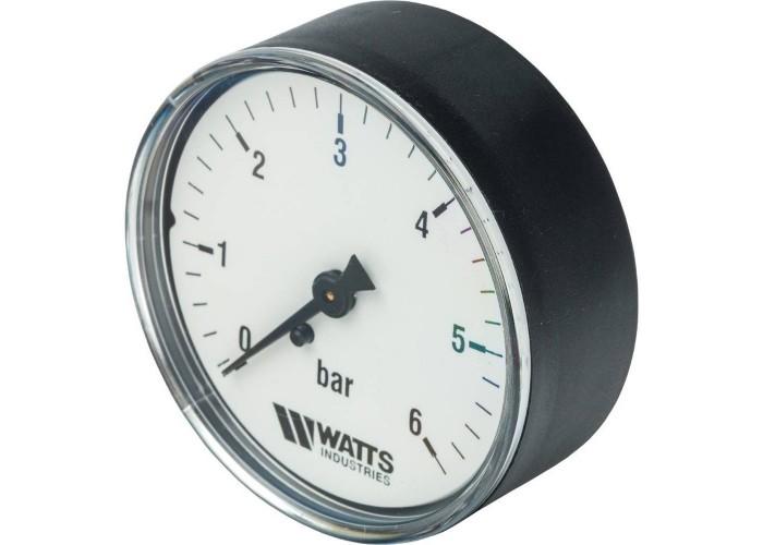 """Watts F+R100(MDA) 63/6 манометр аксиальный нр 1/4""""х 6 бар (63 мм)"""