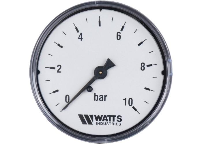 """Watts F+R100(MDA) 63/10 Манометр аксиальный нр 1/4""""х 10 бар (63мм)"""
