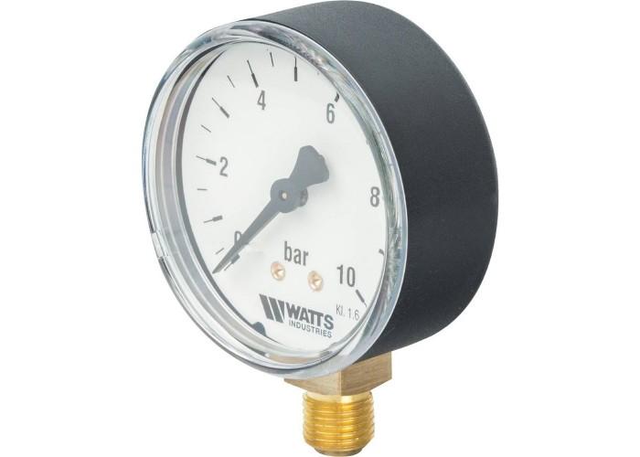"Watts F+R200(MDR) 63/10 Манометр радиальный нр 1/4""х 10 бар (63мм)"