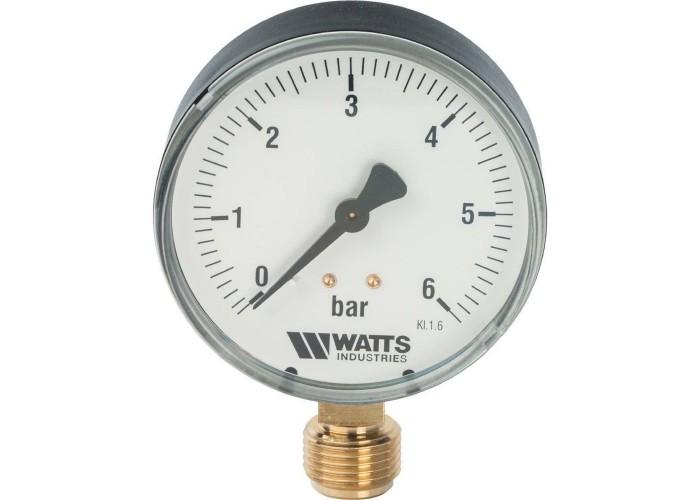 "Watts F+R200(MDR) 80/6x1/2"" Манометр радиальный 80 мм, 0-6 бар."
