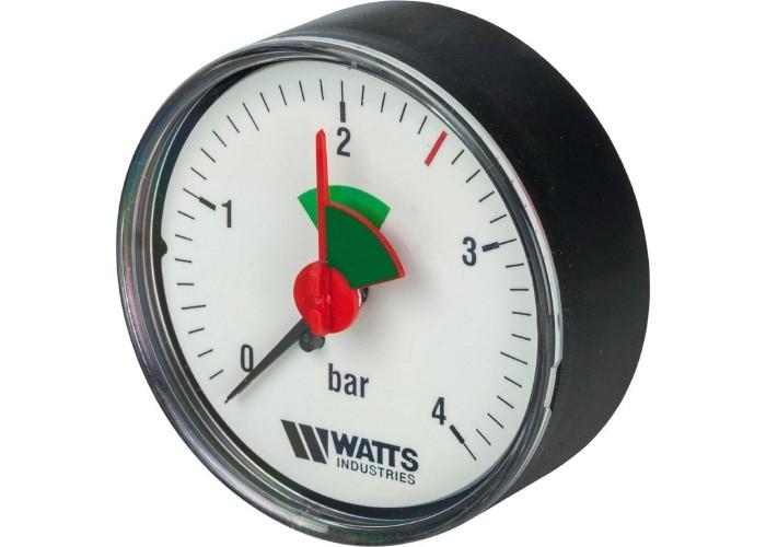 "Watts MHA 63/4x1/4"" Watts Манометр аксиальный 63 мм, 0-4 бар."
