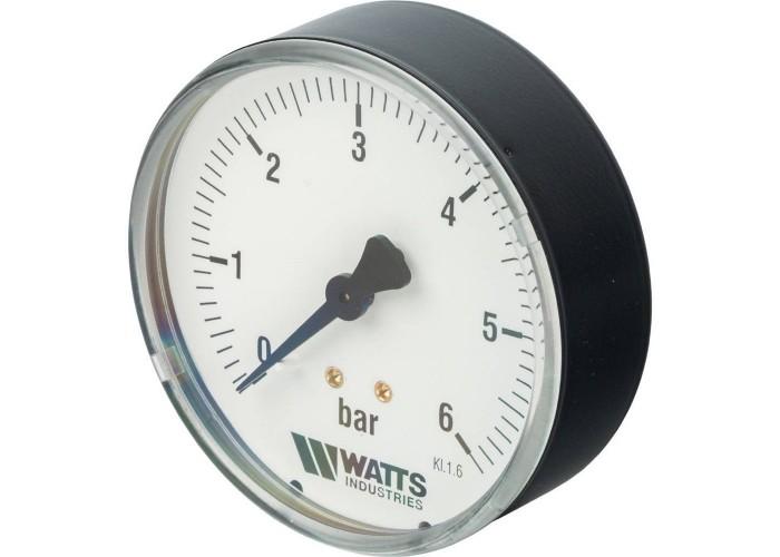 "Watts F+R100(MDA) 80/6x1/4"" Манометр аксиальный 80мм, 0- 6 бар"