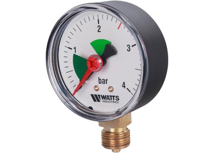 "Watts F+R201(MHR) 63/4x3/8"" Манометр радиальный 63мм, 0-4 бар"