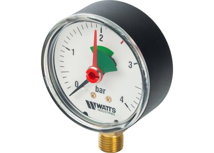 "Watts F+R201(MHR) 80/4x1/2"" Манометр радиальный 80мм, 0-4 бар"