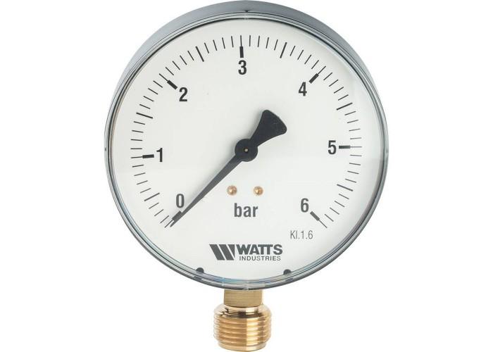"Watts F+R200(MDR) 100/ 6x1/2"" Манометр радиальный 100мм, 0-6 бар"