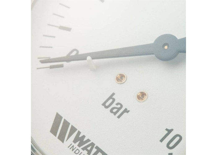 "Watts 03.22.210 F+R200(MDR) 100/10x1/2"" Watts Манометр радиальный 100 мм, 0-10 бар"