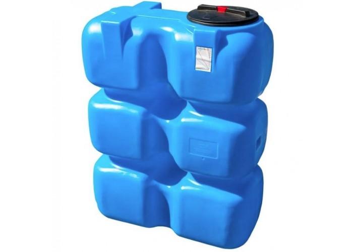 АНИОН Баки для воды Танк 1000 л с фланцем и крышкой с клапанами, со сливом