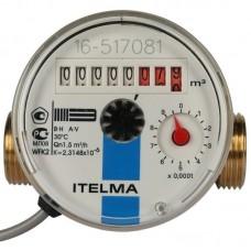 ITELMA Счетчик холодной воды WFK24.D110 Ду=15мм, L=110мм (доп.выписать присоединительный комплект Ду=15 080/110)с антимагнитной защитой и импульсным выходом