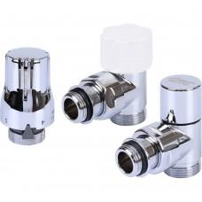 LUXOR Термостатический к-т KT 259/A 1/2 EK угловой (RS259/A+DS79/A+TA1200, хром)
