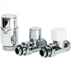 LUXOR Термостатический комплект 1/2 EK KT 258/A прямой (RD258/A+DD78/A+TA1200)