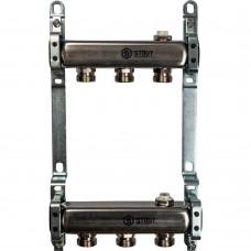 STOUT Коллектор из нержавеющей стали для радиаторной разводки 3 вых.