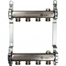 STOUT Коллектор из нержавеющей стали для радиаторной разводки 4 вых.