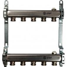 STOUT Коллектор из нержавеющей стали для радиаторной разводки 5 вых.
