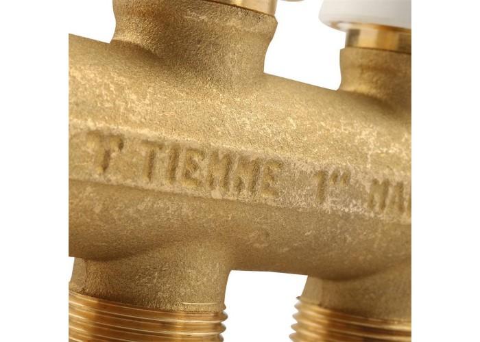 """TIEMME Коллектор с термостатическими клапанами 1"""" 04D 3/4""""(18) INT=50"""