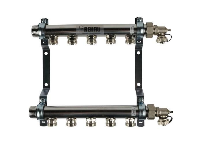 REHAU Распределительный коллектор HLV на 5 групп нерж. сталь