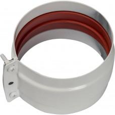 STOUT Элемент дымохода соединительный адаптер внешний с рукавом для труб DN80 п/п