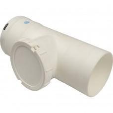 STOUT Элемент дымохода конденсац. визуальн инспекция T образн DN80 п/м PP-FE