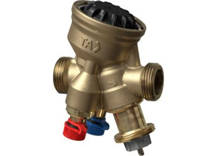 Комбинированный балансировочный регулирующий клапан TA-COMPACT-P, DN25, наружная резьба, AMETAL
