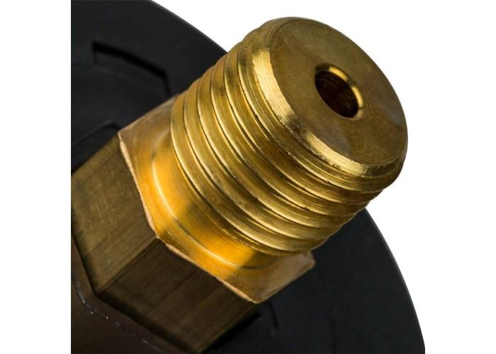 "STOUT SIM-0007 Манометр аксиальный с указателем предела. Корпус Dn 50 мм 1/4"", 0...4 бар, кл.2.5"