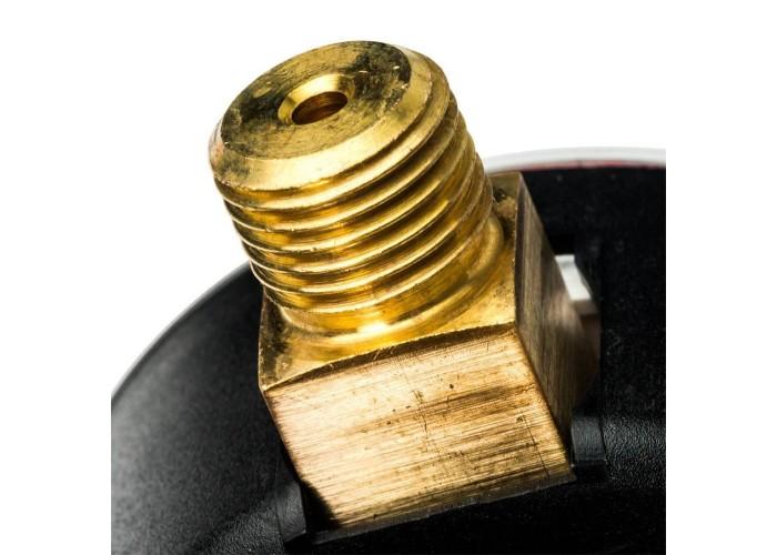 """STOUT SIM-0008 Манометр радиальный с указателем предела. Корпус Dn 63 мм 1/4"""", 0...4 бар, кл.2.5 в Белгороде"""