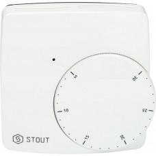 STOUT STE-0002 Проводной электронный термостат WFHT-BASIC со светодиодом