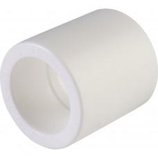 Политэк d=25 Муфта для полипропиленовых труб под сварку (цвет белый)