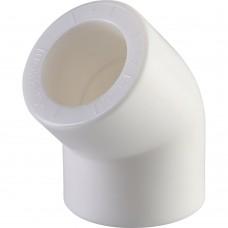 Политэк d=20 Угольник 45* для полипропиленовых труб под сварку (цвет белый)