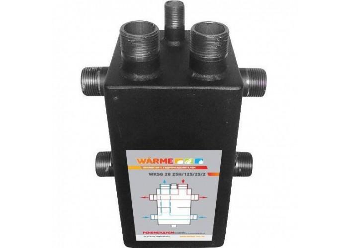 Warme Коллектор с гидравлическим разделителем на 2 выхода