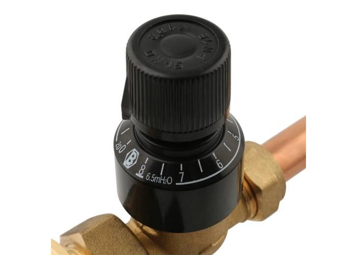 STOUT Насосно-смесительный узел с термостатическим клапаном и байпасом, без насоса