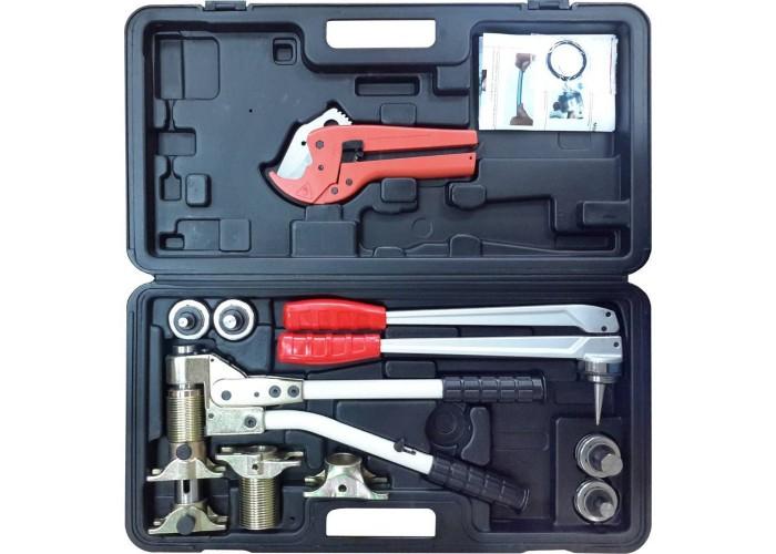 PEXcase Универсальный комплект механического инструмента для труб PEX и аксиальных фитингов (16, 20, 25, 32)