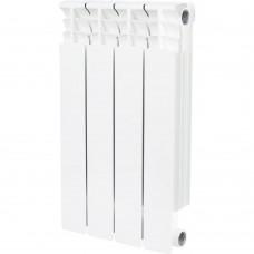 STOUT Space 500 4 секции радиатор биметаллический боковое подключение RAL9016