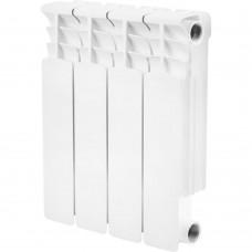 STOUT Space 350 4 секции радиатор биметаллический боковое подключение RAL9016