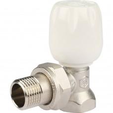 """STOUT SVRs Клапан ручной терморегулирующий с неподъемным шпинделем, угловой 1/2"""""""