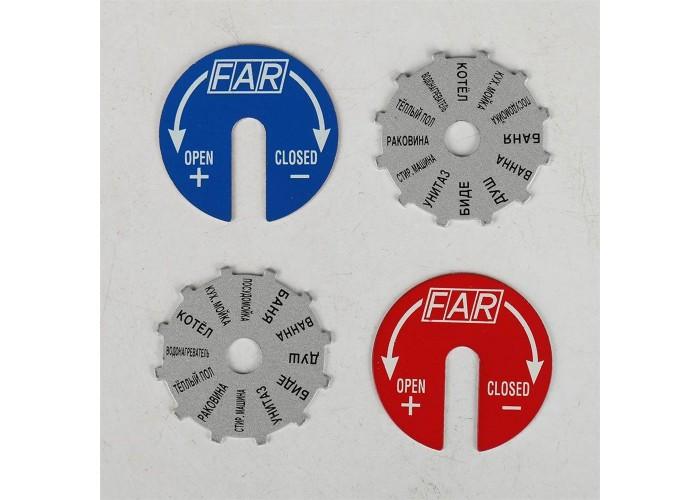 """FAR Коллектор распределительный 1"""", проходной, хромированный, 3 отвода 3/4"""" плоское уплотнение"""