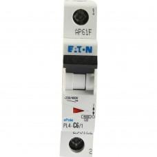 Eaton Выключатель авт. мод. 1п C 6А PL4-C6/1 4.5кА EATON 293122