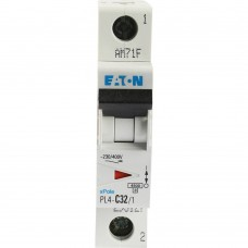 Eaton Выключатель авт. мод. 1п C 32А PL4-C32/1 4.5кА EATON 293127