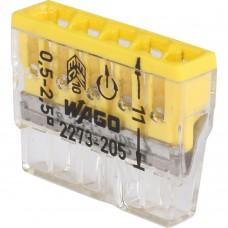 WAGO Клемма 5х(0.5-2.5мм) 5-х проводн. для распред. короб. (без п) WAGO 2273-205