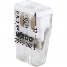 "WAGO Клемма 2х(0.5-2.5мм) 2-х проводн. для распред. короб. (с контактн. пастой ""Alu-Plus"") WAGO 2273-242"