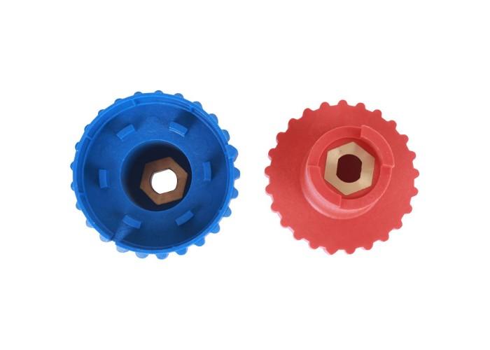 BARBERI Комплект ручек для шаровых кранов 2 шт.(синяя, красная)