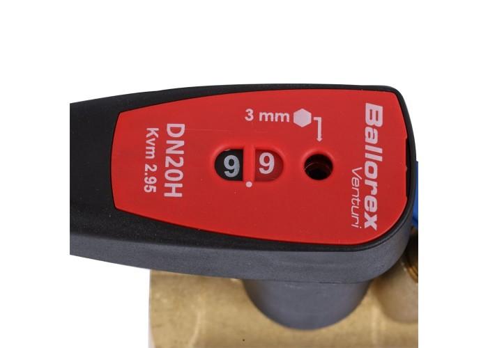 БРОЕН БРОЕН Venturi FODRV Клапан балансировочный ручной повышенной пропускной способности с дренажем резьбовой DN 020 PN 25 Kvs=5,72 м3/ч,артикул 4455000H-001003 [4455000h-001003]
