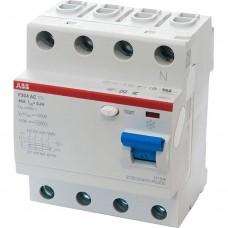 ABB УЗО 4п 40А 30мА тип AC F204 ABB 2CSF204001R1400