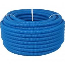 STOUT SPG-0001 Труба гофрированная ПНД, цвет синий, наружным диаметром 20 мм для труб диаметром 16 мм