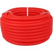 STOUT SPG-0002 Труба гофрированная ПНД, цвет красный, наружным диаметром 20 мм для труб диаметром 16 мм