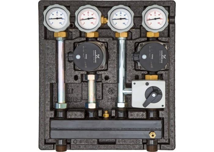 Meibes Насосно-смесительный модуль Kombimix 2UK с насосом Grundfos UPM3 70