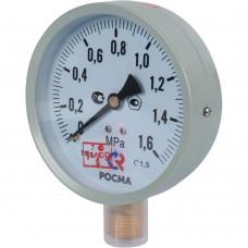 РОСМА ТМ-510P.00(0-1,6MРа)G1/2.1,5.M2 Манометр диам. 100 мм; тип ТМ; серия 10; модель 2; кт 1,5; IP40; G1/2; 0-1,6МРа.