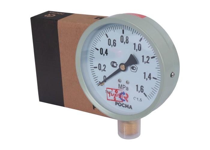 РОСМА ТМ-510P.00(0-1,6MРа)G1/2.1,5.M2 Манометр диам. 100 мм; тип ТМ; серия 10; модель 2; кт 1,5; IP40; G1/2; 0-1,6МРа. в Белгороде